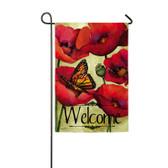 Garden Sub Suede Poppy Flag