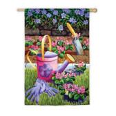 Regular Sub Satin Summer Gardening Flag