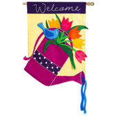 Regular Applique Watering Can Flag