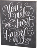 Chalk Sign- Heart Happy