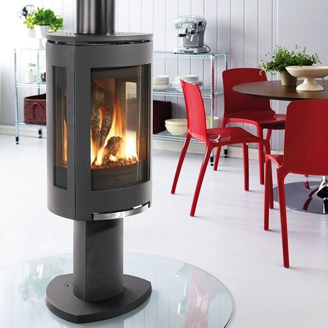 jotul 370 dv matte black. Black Bedroom Furniture Sets. Home Design Ideas