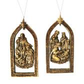 Resin Mirror Nativity Ornament