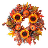 Sunflower/Pumpkin/Berry Wreath
