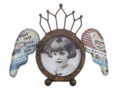 "4"" Round Frame with Wings"
