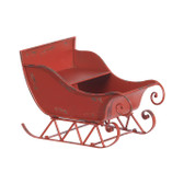 """15"""" Rustic Sleigh in Red"""