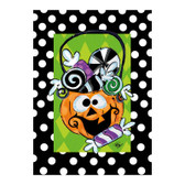 Pumpkin with Candy Greeting Card