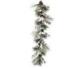 """60"""" Frost Mixed Pine with Mini Cones Garland"""