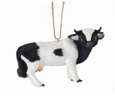 "5"" Fur Milk Cow Ornament"