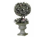"19"" Winter Garden Boxwood Ball Topiary"