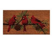 """18"""" x 30"""" Cardinals Coir Fiber Door Mat"""