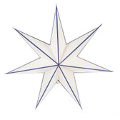 White Star with Blue Stripe Hanging Pendant