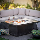 St. Tropez Rectangular Gas Fire Table