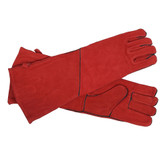Red Long Hearth Gloves
