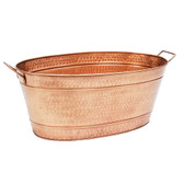 Large Oval Copper Plated Tub