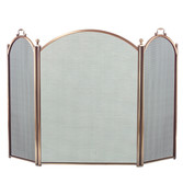 """3 Fold Arched Antique Brass Screen 34""""H x 52""""W"""