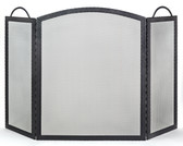 """Black Wrought Iron 3 Fold Embossed  Arched Screen 32.5""""H x 52""""W"""
