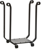 "Decorative Black Wrought Iron Log Rack 18.5""L"