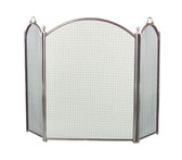 "Pewter 3 Fold Arched Screen 34""H x 52""W"