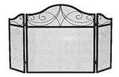 "Black Wrought Iron 3 Fold Decorative Arch Screen 30""H x 52""W"