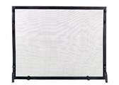 "Black Wrought Iron Panel Screen 25""H x 39""W"