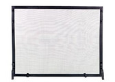 "Black Wrought Iron Panel Screen 25""H x 44""W"