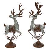 Galvanized Metal Rustic Reindeer