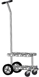 """Oxygen Cylinder Cart With """"T"""" Shaped Handle For Six D or E (4.38"""" DIA) Style Oxygen Cylinders (1070T)"""