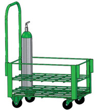 "Heavy Duty Oxygen Cylinder Cart For 24 D or E (4.38"" DIA) Style Oxygen Cylinders (1080HD)"