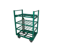 "Heavy Duty Oxygen Cylinder Cart With Lockable Lid For 24 D or E (4.38"" DIA) Style Oxygen Cylinders (1080HHD)"