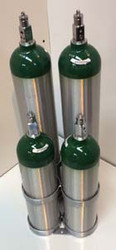"Oxygen Cylinder Rack For Four D or E (4.38"" DIA) Style Oxygen Cylinders (1085)"