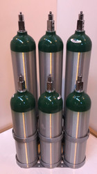 "Oxygen Cylinder Rack For Six D or E (4.38"" DIA) Style Oxygen Cylinders (1095)"