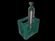 "Heavy Duty Oxygen Cylinder RackFor Six D or E (4.38"" DIA) Style Oxygen Cylinders (1095HD)"