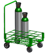 "Heavy Duty Oxygen Cylinder Cart for 12 M60/90 (7.25"" DIA) Oxygen Cylinders (1140-12HD)"