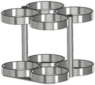 """Oxygen Cylinder Rack for Four M60 (7.25"""" DIA) Oxygen Cylinders (1141-4)"""