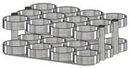 "Oxygen Cylinder Rack for 12 MM (8.00"" DIA) Oxygen Cylinders (1143-12)"
