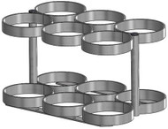 """Oxygen Cylinder Rack for Six MM (8.00"""" DIA) Oxygen Cylinders (1143-6)"""
