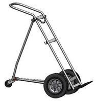 "Hand Truck/Dollie for One H or T (9.25"" DIA) Cylinder Featuring Stabilizing Third Wheel (1201)"