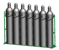 "Vertical Warehouse Rack for Seven M250, H or T (9 .25"" DIA) Cylinders (1239-1X7)"