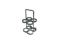 """Oxygen Cylinder Rack With Handle Holds Four M6 (3.20""""DIA) Oxygen Cylinders (2086)"""