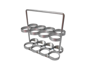 """Oxygen Cylinder Rack With Handle Holds Eight M6 (3.20""""DIA) Oxygen Cylinders (2101)"""