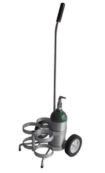 "Four Cylinder Capacity Adjustable Oxygen Cart for Four ML6 (4.38"" DIA) Oxygen Cylinder (4060)"