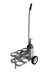 "Six Cylinder Capacity Adjustable Oxygen Cart for Six ML6 (4.38"" DIA) Oxygen Cylinder (4070)"