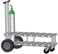 "Cylinder Cart for 12 ML6 (4.38"" DIA) Oxygen Cylinders (4075)"