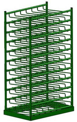 Layered Horizontal Rack for 50 M6 Cylinders (6515)