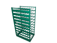 Layered Horizontal Rack with Door for 70 M6 Cylinders (6520D-70)