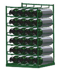 Layered Horizontal Rack for 84 M6 Cylinders (6522)