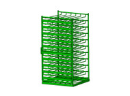 Layered Horizontal Rack with Door and Fork Lift Tubes for 140 M6 Cylinders (6525DF)