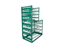Layered Multi Cylinder Rack for 12 D/E and 16 M6 Cylinders (6604D)