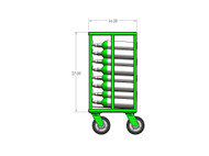 "Oxygen Cylinder Transport Cart for 60 M6 (3.20"" DIA) Style Cylinders (9031-60 M6)"