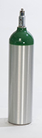 """D Medical Oxygen Cylinder (4.38"""" DIA) New, Made in USA"""